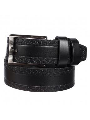 Ремень кожаный  Y.S.K. классика 3,5 см 2051 -1 черный