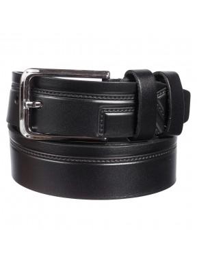 Ремень кожаный Y.S.K. классический 3,5 см 2085-1 черный