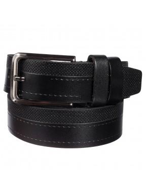 Ремень кожаный  Y.S.K. классика 3,5 см 3003-1 черный