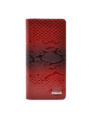 Кошелек женский кожа Desisan 321-500 красный узор лак