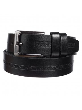 Ремень кожаный  Y.S.K. классика 3,5 см 3032-1  черный