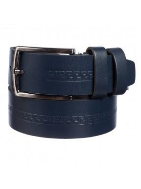 Ремень кожаный  Y.S.K. классика 3,5 см 3032-9 синий