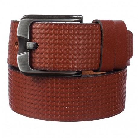 Ремень кожаный Y.S.K. джинсы 5 см 2083 -3 рыжий