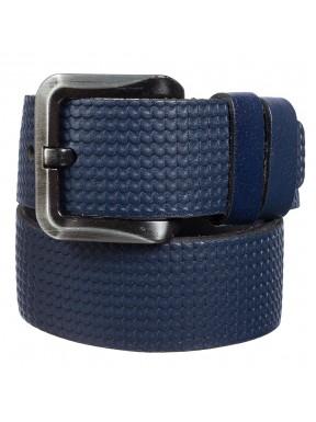 Ремень кожаный Y.S.K. джинсы 5 см 2083-9 синий