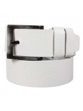 Ремень кожаный Y.S.K. джинсы 5 см 2090-0 белый