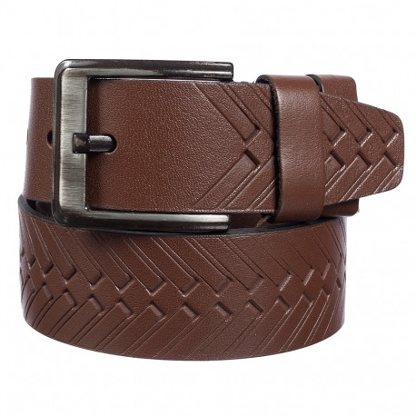 Ремень кожаный Y.S.K. джинсы 5 см 3040-2 коричневый
