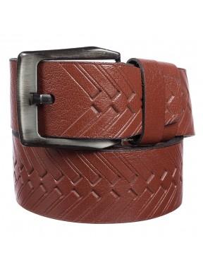 Ремень кожаный Y.S.K. джинсы 5 см 3040-3 рыжий