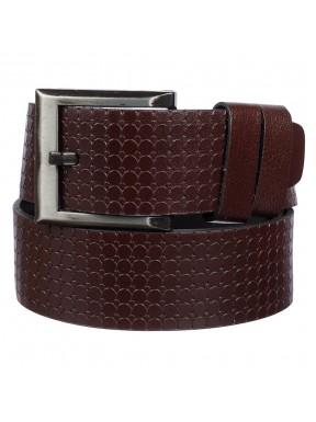 Ремень кожаный  Y.S.K. джинсы 5 см 3048-2 коричневый