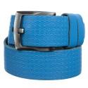 Ремень кожаный Y.S.K. джинсы 5 см 3048 -38 голубой