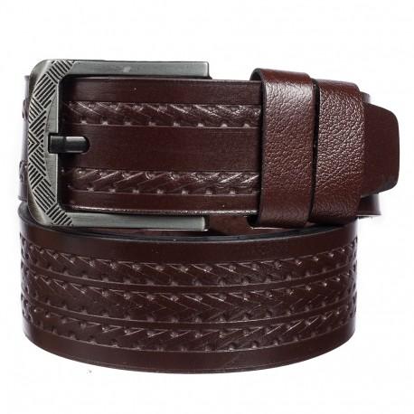 Ремень кожаный Y.S.K. джинсы 5 см 3053-2 коричневый