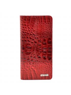 Кошелек женский кожа Desisan 321-580 красный кроко лак