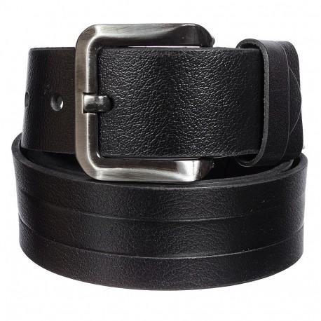 Ремень кожаный Y.S.K. джинсы 5 см 710-1 черный