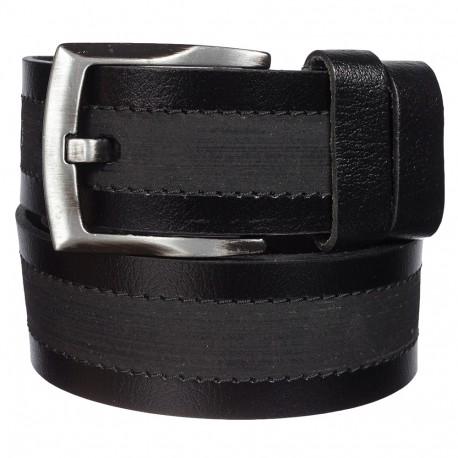 Ремень кожаный Y.S.K. джинсы 5 см 886-1 черный