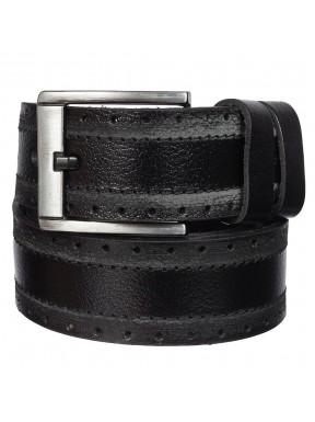Ремень кожаный Y.S.K. джинсы 5 см 980-1 черный