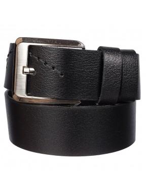 Ремень кожаный  Y.S.K. джинсы 5 см 985-1 черный