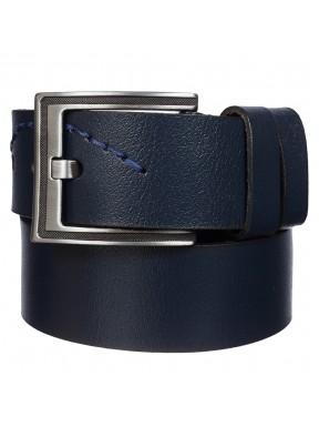 Ремень кожаный  Y.S.K. джинсы 5 см 985-9 синий
