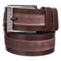 Ремень кожаный Y.S.K. джинсы 5 см 886-2 коричневый