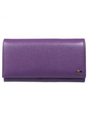 Женское портмоне кожа Desisan 057-413 фиолетовый флотар