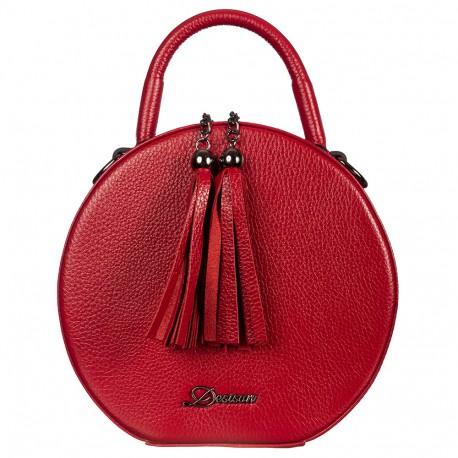 Сумка женская кожа Desisan 578-4 красный флотар