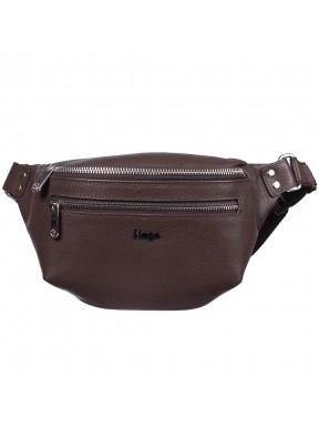 Поясная сумка кожаная KARYA 0203-39 коричневый флотар