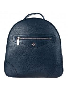 Рюкзак кожаный KARYA 0827-44 синий флотар