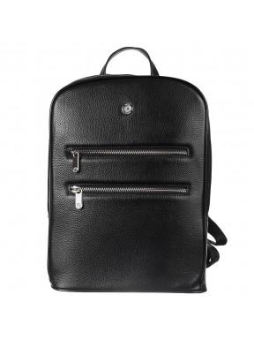 Рюкзак кожаный KARYA 6002-45 черный флотар