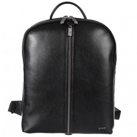 Рюкзак кожа KARYA 6004-45 черный флотар