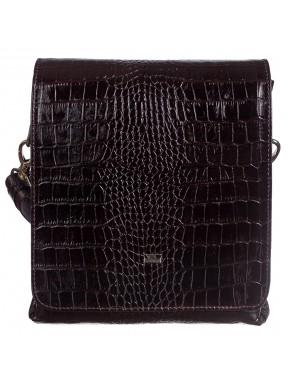 Барсетка кожа мягкая DESISAN 1321-19 коричневый кроко