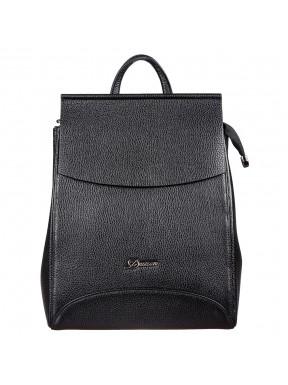 Рюкзак кожаный Desisan 3023-01 черный флотар