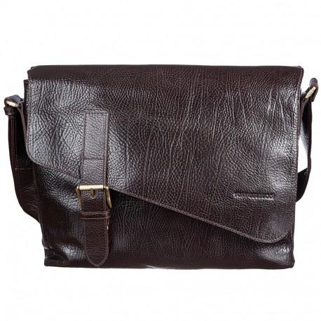 Сумка мягкая кожа Tony Bellucci 5165-886 коричневый флотар