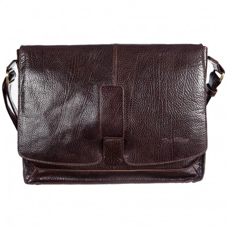 Сумка мягкая кожа Tony Bellucci 5057-886 коричневый флотар
