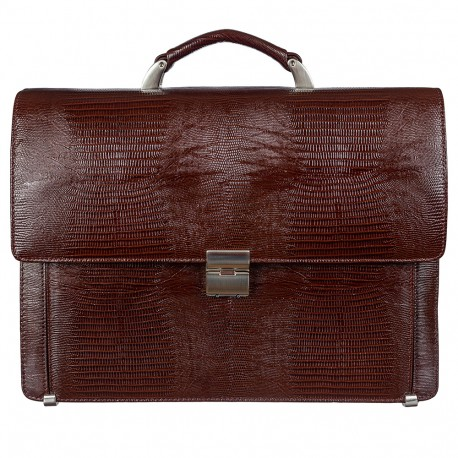 Портфель кожа Desisan 319-142 коричневый лазер