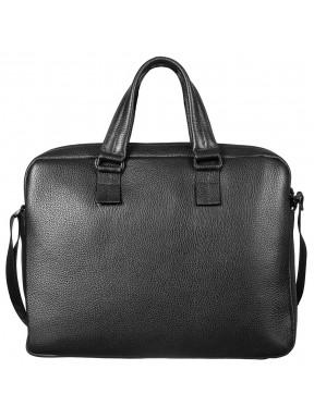 Портфель мягкий кожаный BOND 1115-281 черный