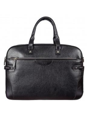 Портфель мягкий кожаный BOND 1209-281 черный