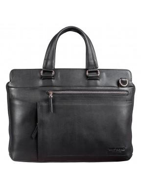 Портфель мягкий кожа BOND 1132-101 черный