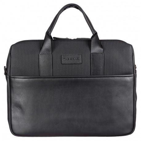 Портфель мягкий кожа BOND 1173-50 черный