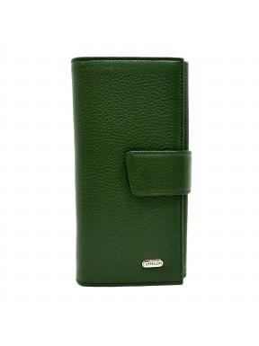Кошелек женcкий кожаный CANPEL 700-299 зеленый флотар
