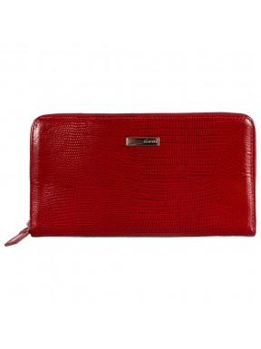 Кошелек женский кожаный KARYA 1118-074 красный лазер