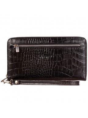Клатч мужской кожаный KARYA 0706-53 черный кроко