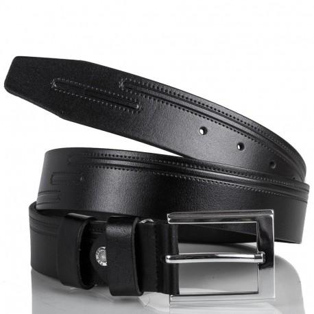 Ремень кожаный  Y.S.K. джинсы 4см 4-2029 -1  черный