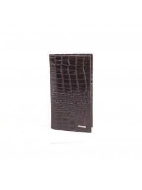 Портмоне кожа GRASS 404-30 коричневый кроко