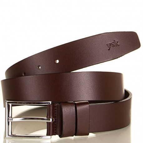 Ремень кожаный  Y.S.K. джинсы 4см 4-2007-2 корич