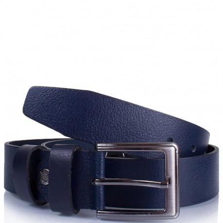 Ремень кожаный  Y.S.K. джинсы 4см 4-2009-9 синий