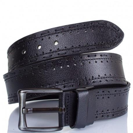 Ремень кожаный  Y.S.K. джинсы 5 см 933 -1 черн