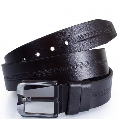 Ремень кожаный  Y.S.K. джинсы 5 см 3032-1 черный