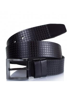 Ремень кожаный  Y.S.K. джинсы 5 см 3048-1 черный