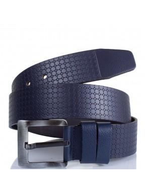 Ремень кожаный  Y.S.K. джинсы 5 см 3048-9 синий