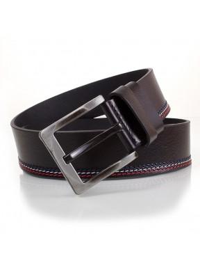 Ремень кожаный  Y.S.K. джинсы 5 см 727-1 черн