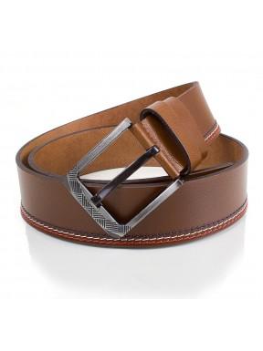 Ремень кожаный  Y.S.K. джинсы 5 см 727 -4 рыжий