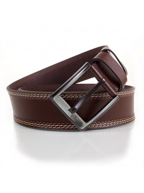Ремень кожаный  Y.S.K. джинсы 5 см 912-2  корич